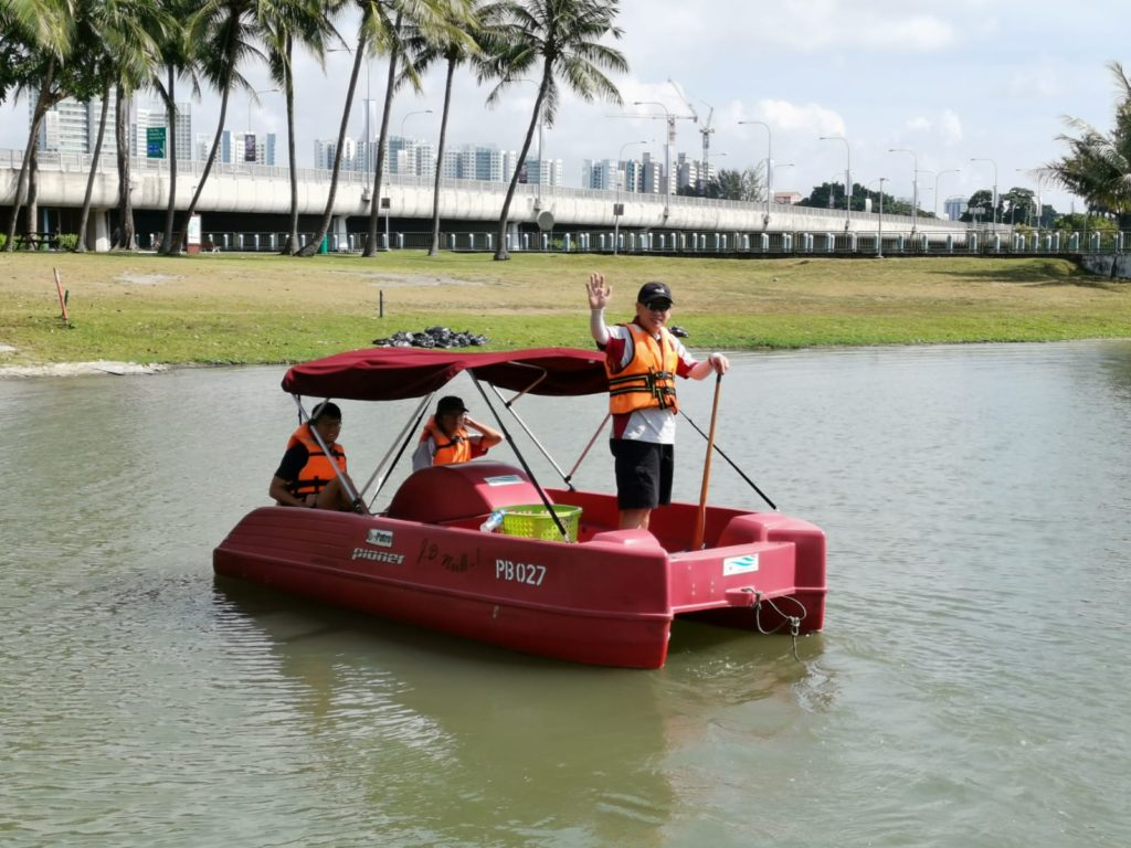 Clean-up Patrol on Pedal-boat