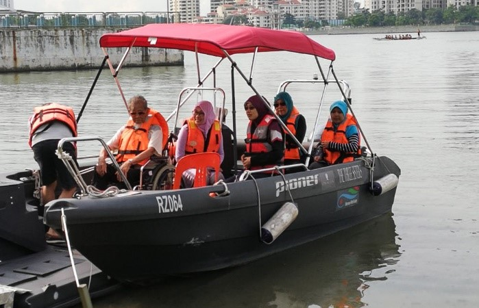 Acquired wheelchair-friendly boats for our programme